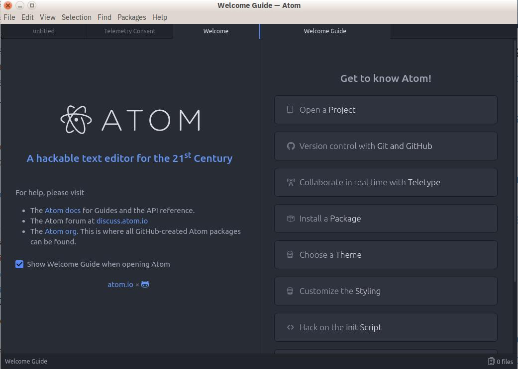 Atom代码编辑器