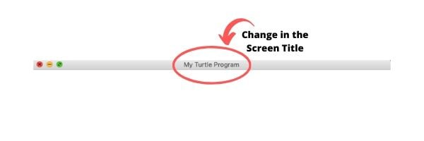 Python Turtle Screen Title Updated
