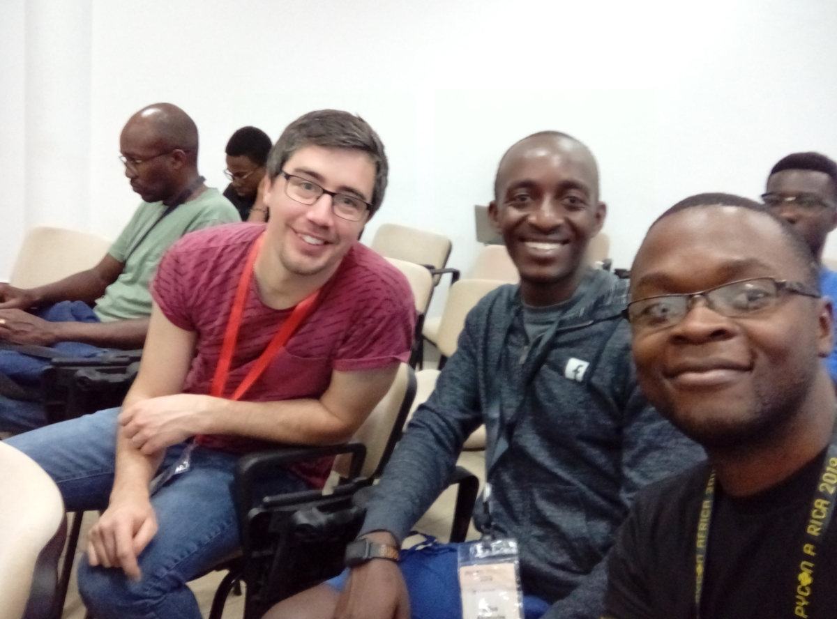 Real Python Authors and Reader: Vuyisile, Anthony, And Edison