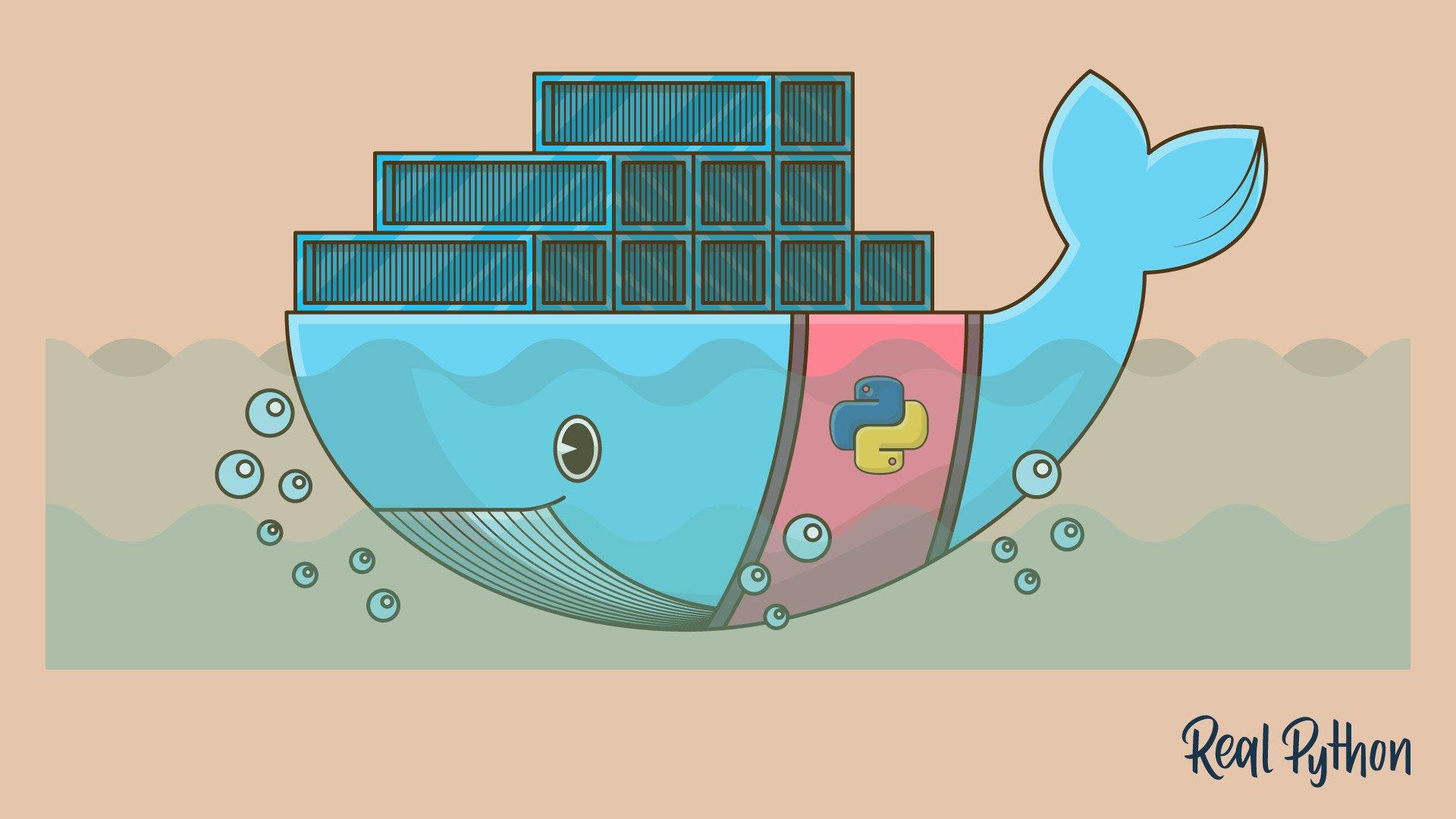 Python Docker logo