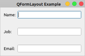 QFormLayout Spacing Example