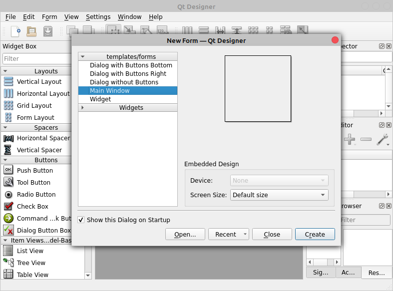 Qt Designer GUI