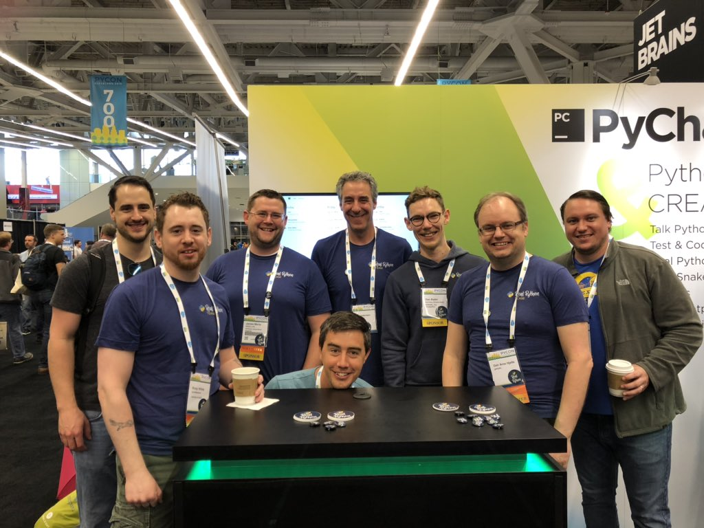 Real Python Team Photo at PyCon 2019