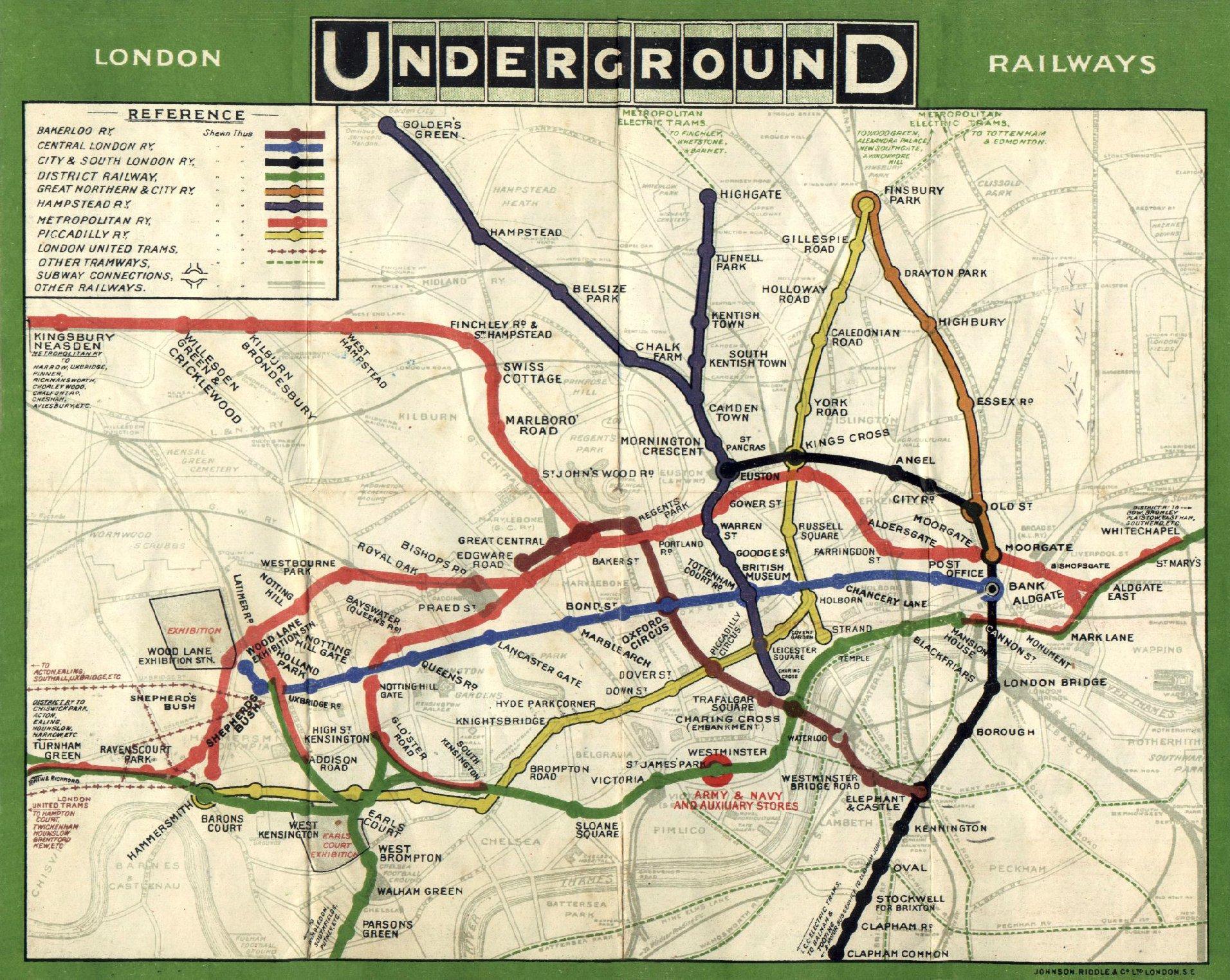 London Underground in 1908