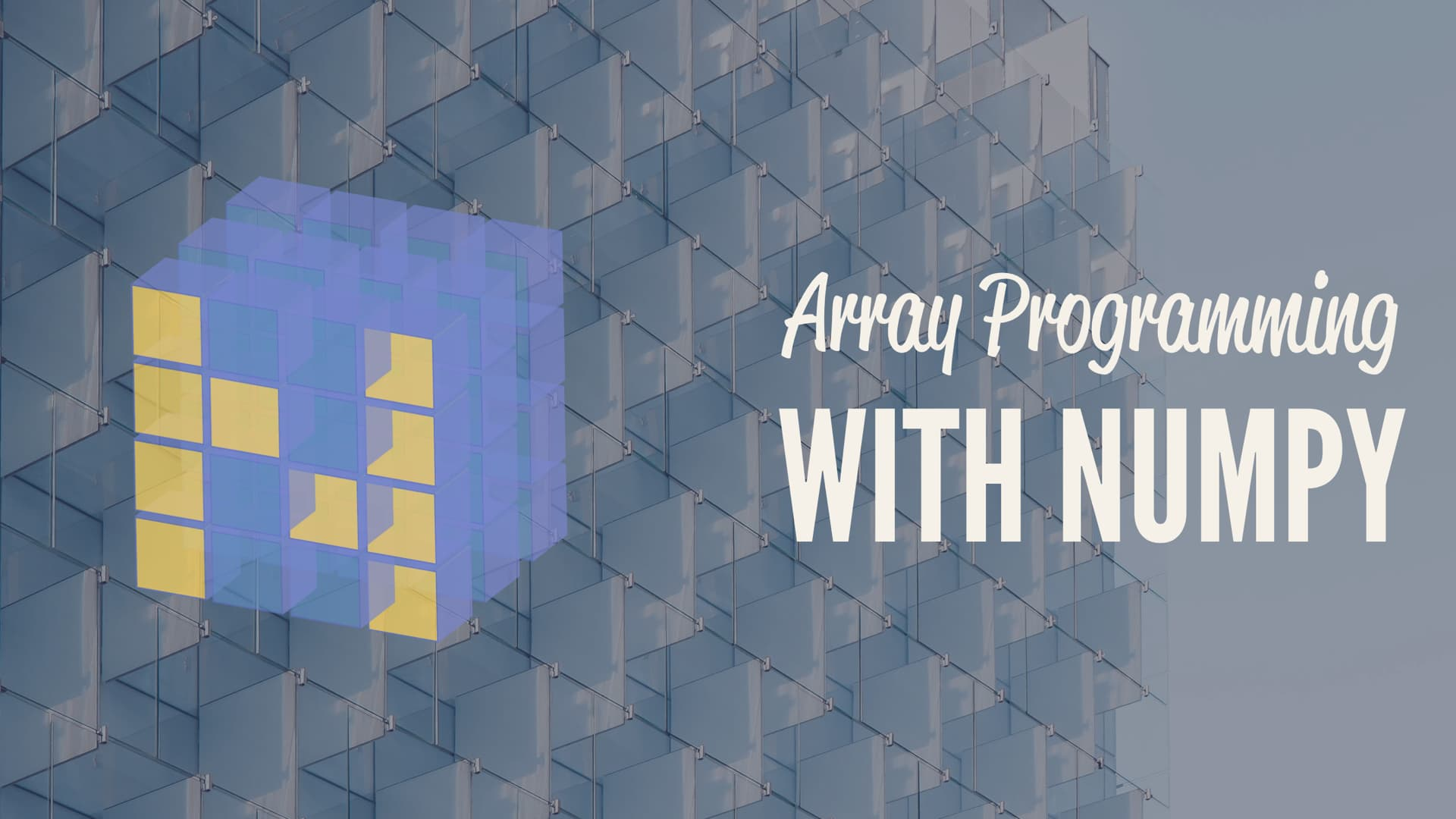 Array Programming with NumPy