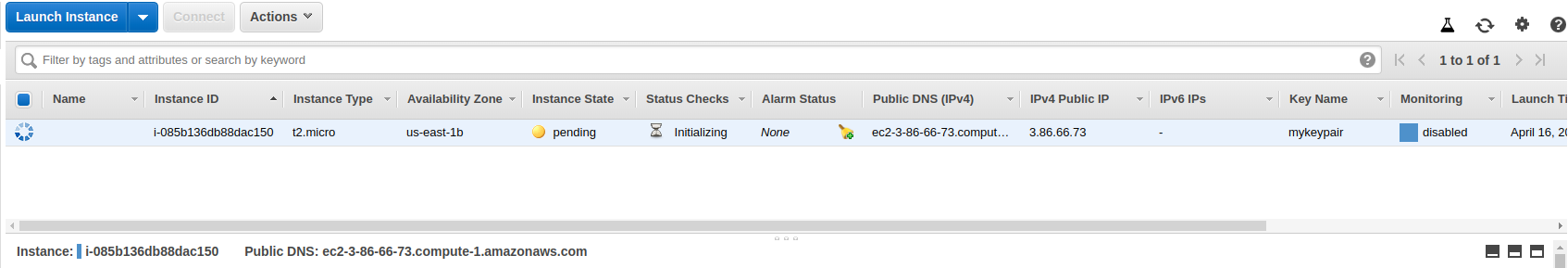 EC2 instance is in peding status