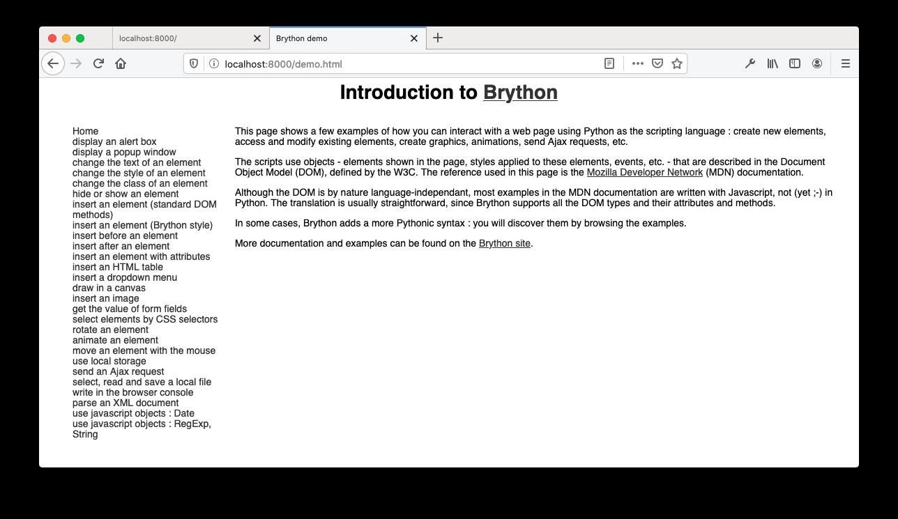 Brython Demo