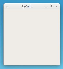 PyCalc's skeleton