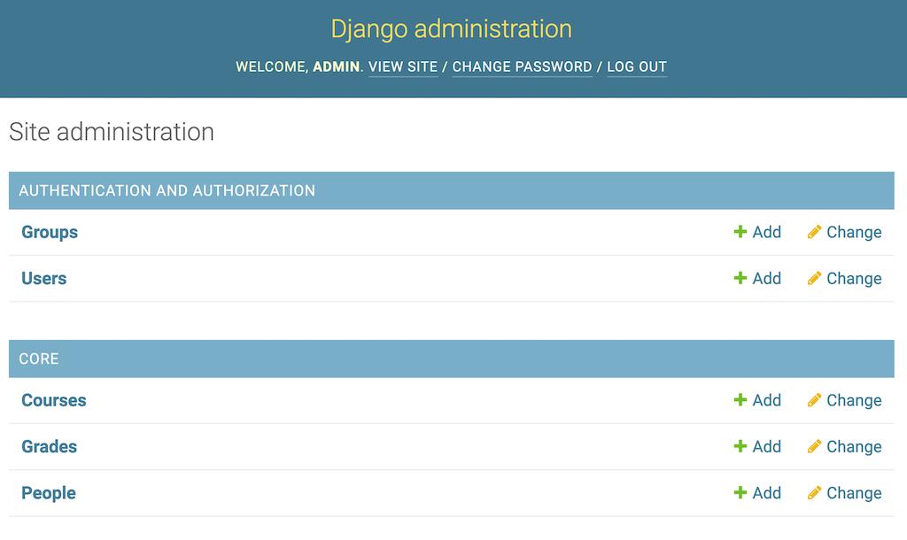 """Django Admin """"app index"""" Listing"""