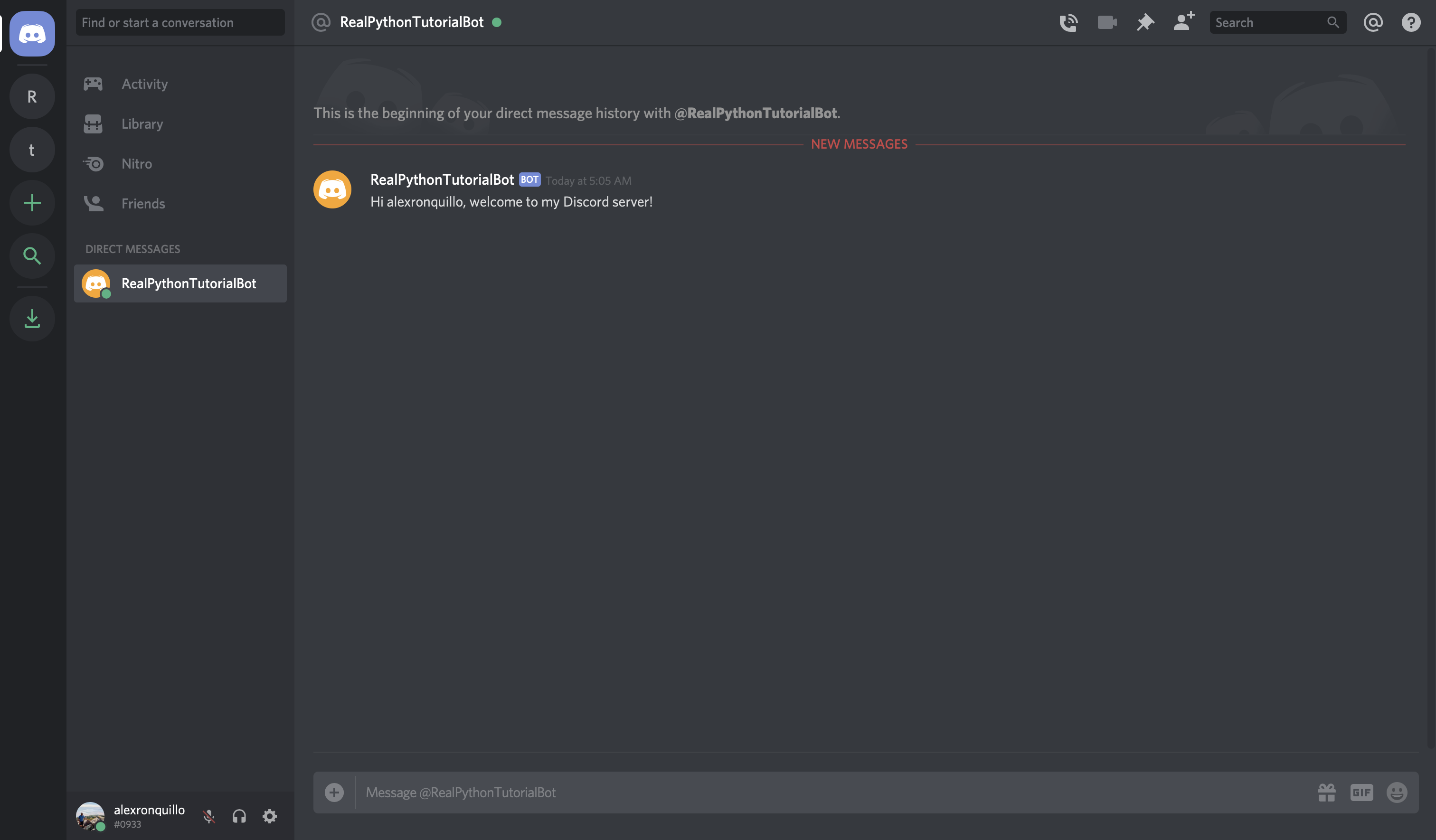 Discord: Direct Message