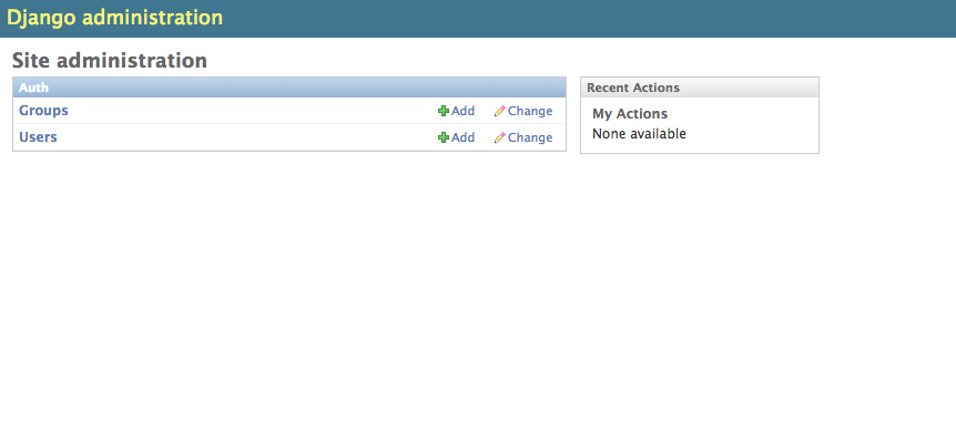 Django administration screenshot