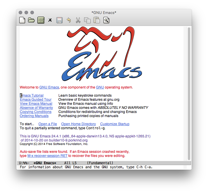 Emacs fresh launch