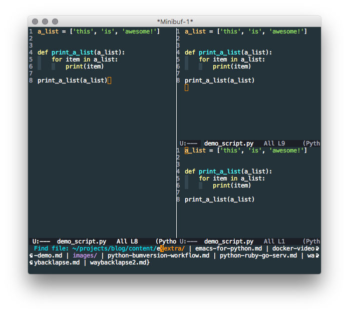 Emacs simple features