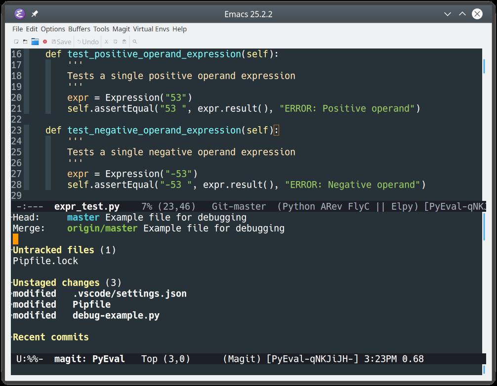 Git repo status under Emacs