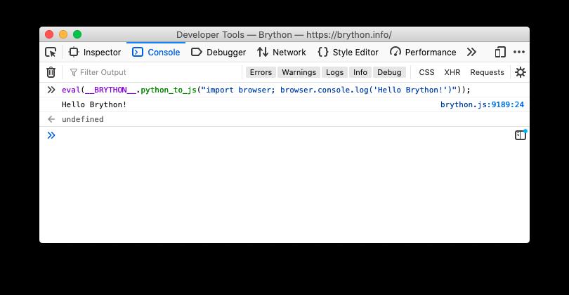 Eval Python to JavaScript