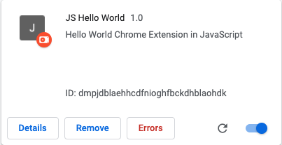 Extension Error