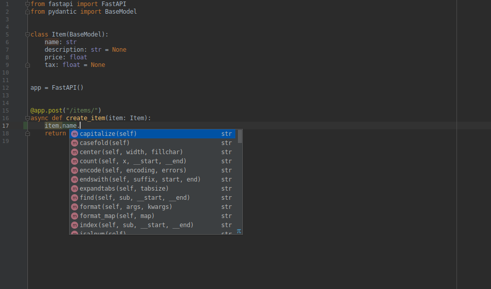 PyCharm also provides editor support like VS Code