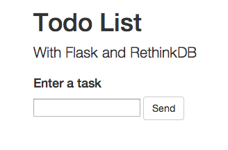 Flask todo list app screenshot