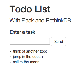 Flask todo list appタスクリストdemo、width = 299、height = 270