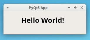 Hello World PyQt GUI application