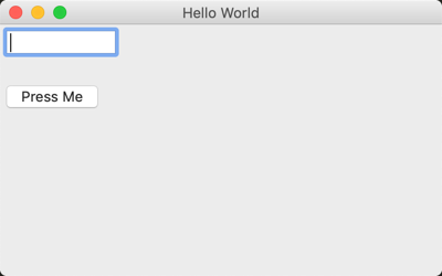 Hello World in wxPython with widgets