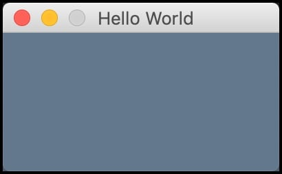Hello World in PySimpleGUI