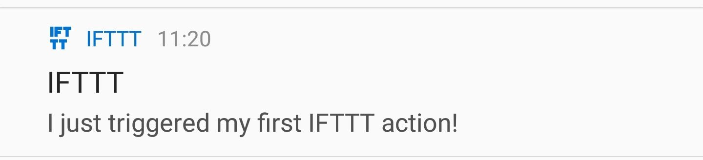 Python + IFTTT: Test Notification
