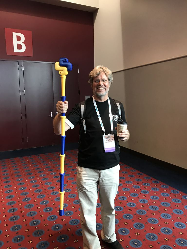 Guido van Rossum With the Python Staff of Enlightenment