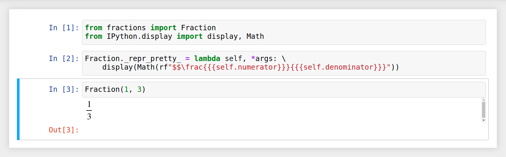 LaTeX Fraction In a Jupyter Notebook