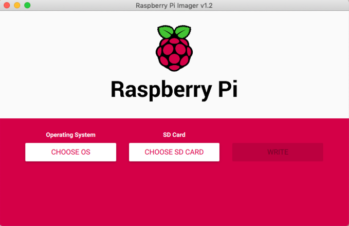 Raspberry Pi Imager Initial State
