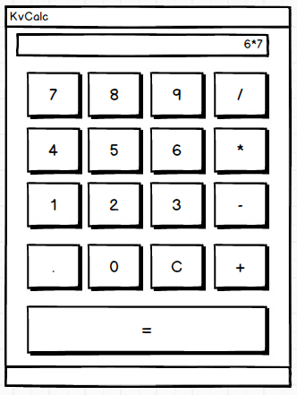 Kivy Calculator Mockup