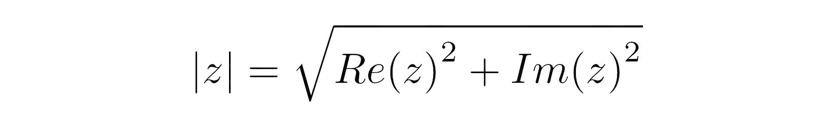 Calculating the Complex Magnitude