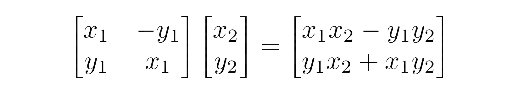 Multiplying Complex Numbers as Matrices