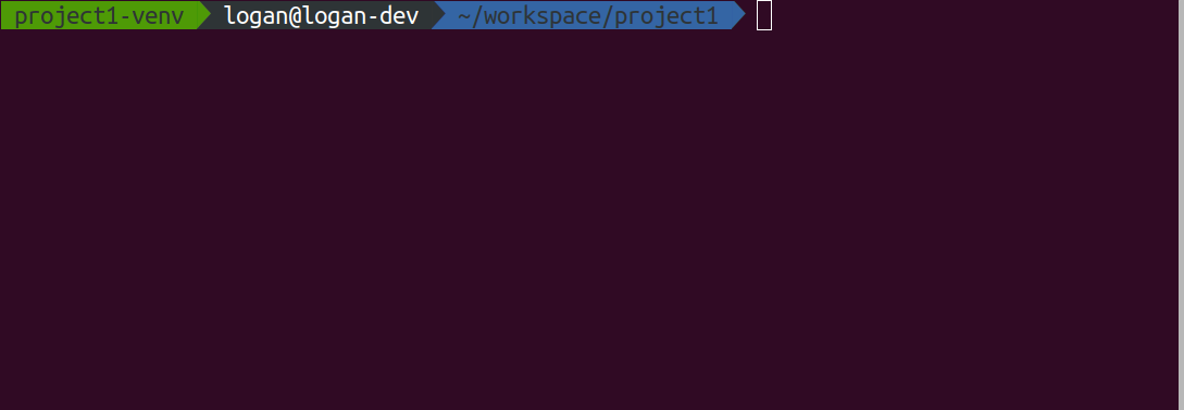 Environment name being shown in ZSH command prompt