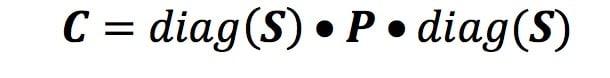 Covariance in Matrix Form