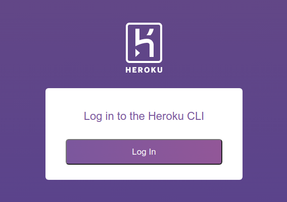 Heroku login screen