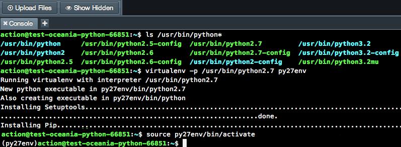 Nitrous Virtualenv Setup for Python 2.7