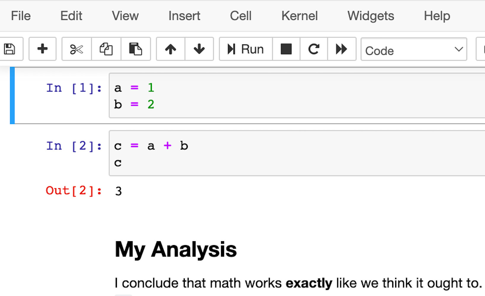 A screenshot of a Jupyter notebook.
