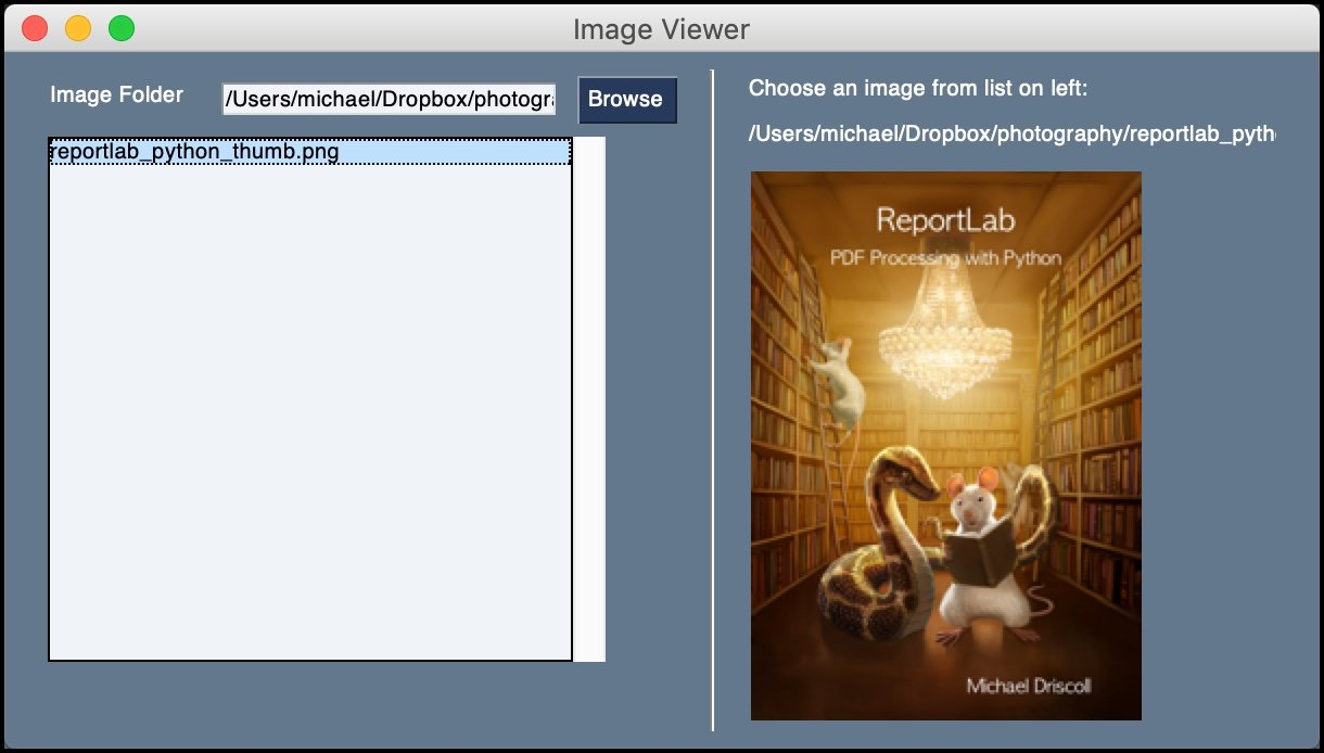 PySimpleGUI Image Viewer