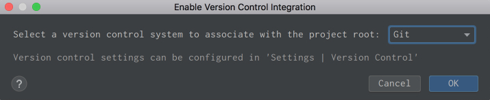 Enable Version Control Integration in PyCharm