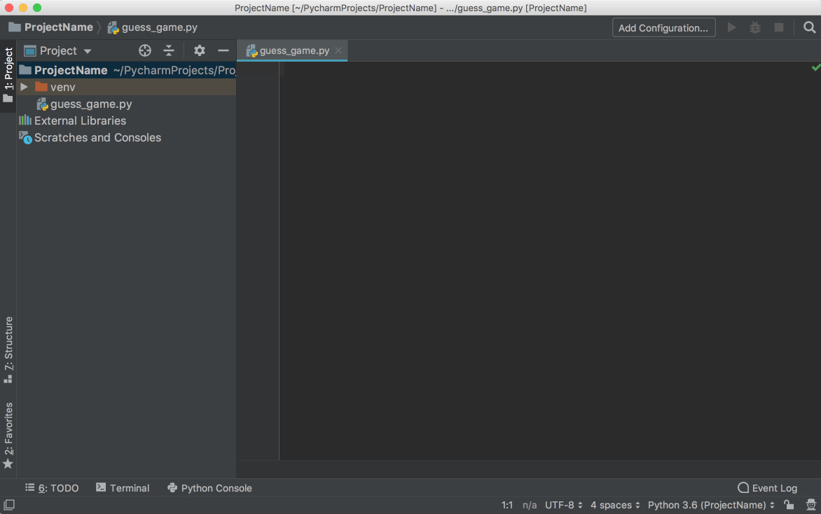 PyCharm New File、 width = 1172、height = 734