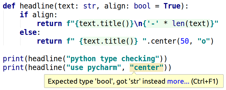 PyCharm flagging a type error