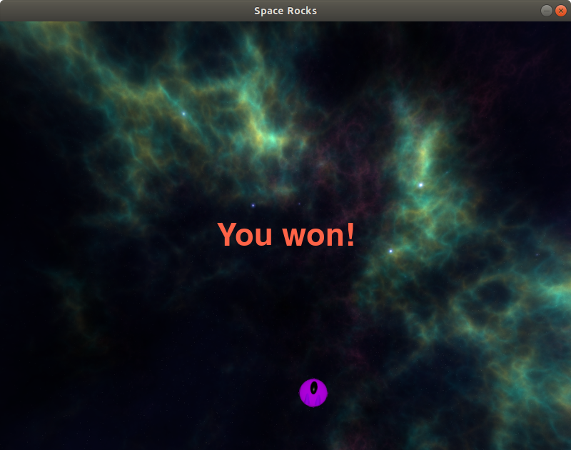 Game message: You won!
