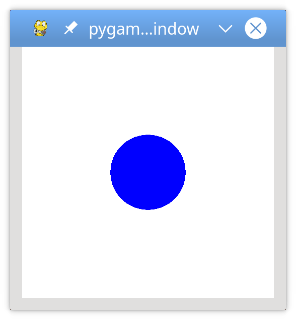 A simple pygame program