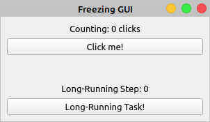 PyQt Freezing GUI Example