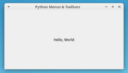 PyQt Sample Application