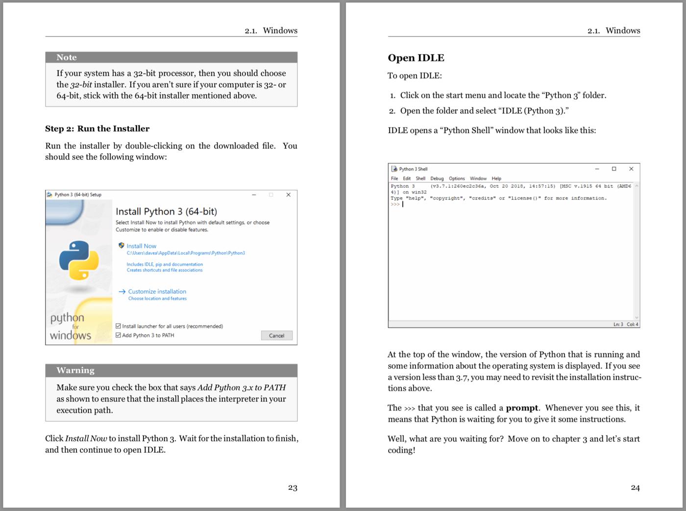 Python Basics Book Example