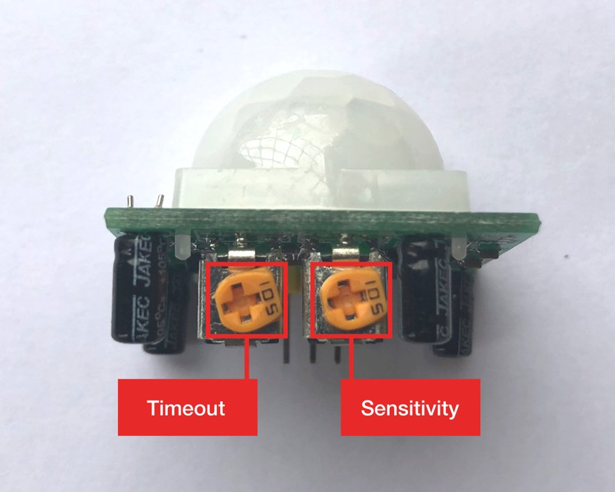 Motion Sensor Adjustment Dials