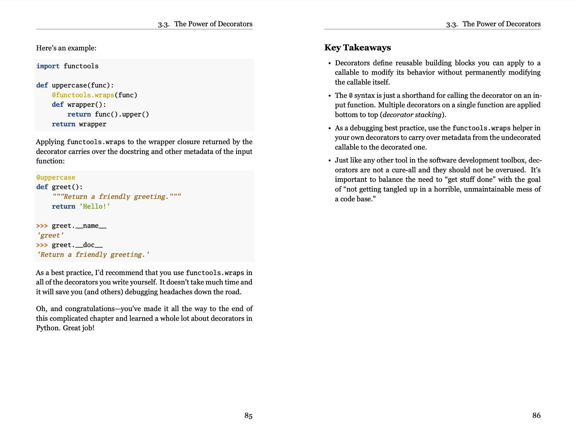 Python Tricks (Sample Page)