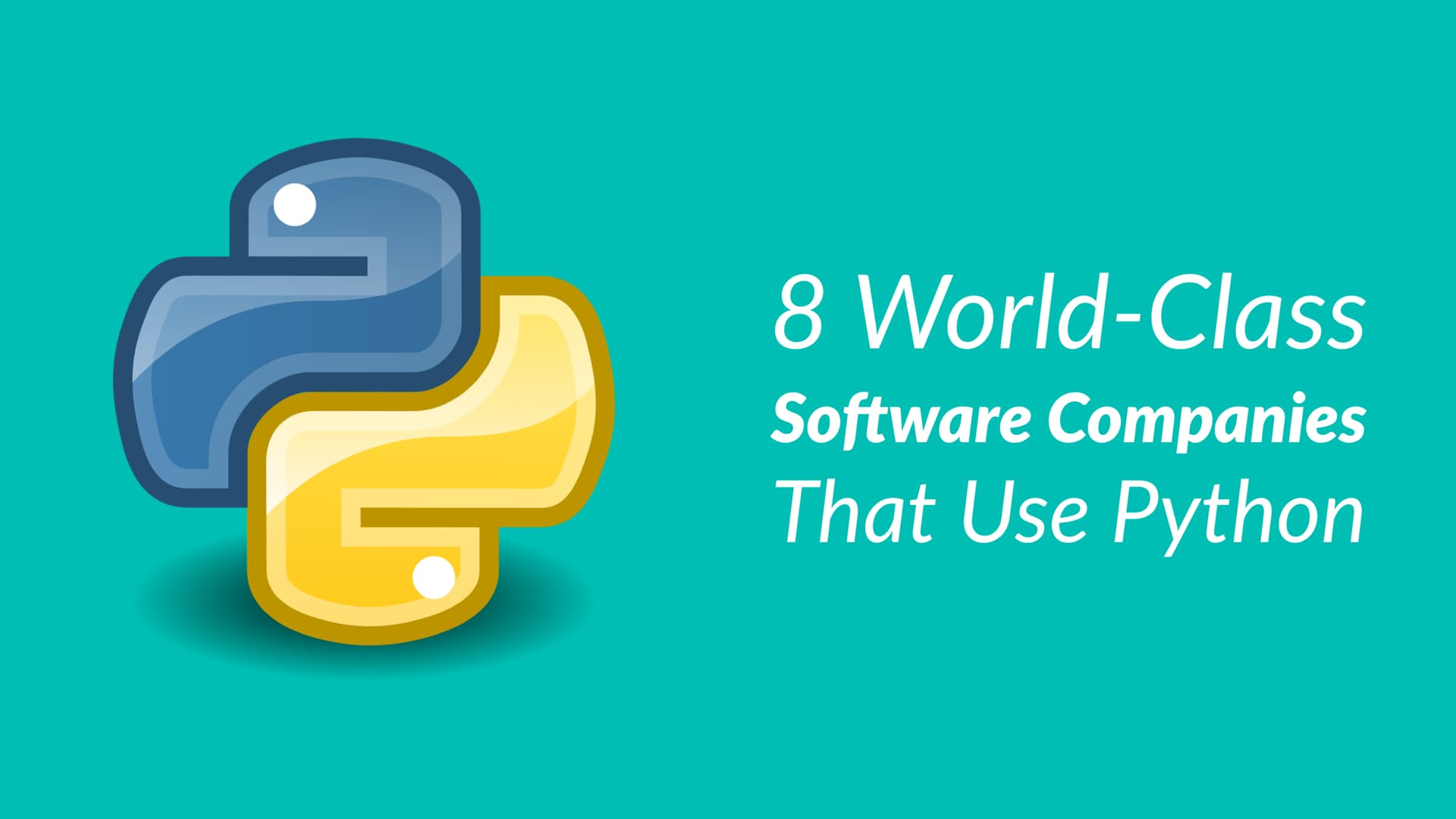 World-Class Software Companies Using Python